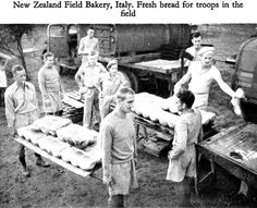 black and white photograph of soldiers baking bread