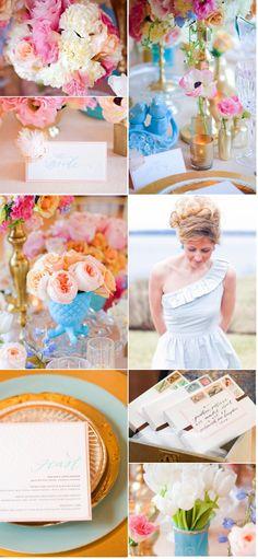 pretty spring wedding