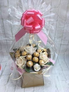 Say it with chocolate! Any occasion Chocolate Tree, Custom Chocolate, Chocolate Gifts, Christmas Chocolate, Chocolate Hampers, Rocher Chocolate, Ferrero Rocher, Candy Gift Baskets, Wedding Gift Baskets