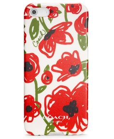 POPPY FLORAL IPHONE 5 CASE -