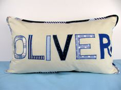 Personalized name pillow case for boys naming day by ByElsieB, £27.50