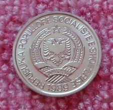 Uncirculated,full of lustre,Albania 1989,2 Leke,Communist Socialist Albania coin