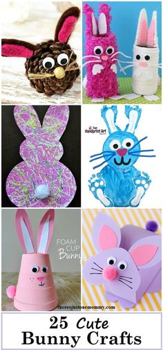 25 Cute Bunny Crafts: kids bunny crafts, cute rabbit crafts that would be fun for kids Easter crafts or spring crafts springcraftsforkids Cute Easter Bunny, Easter Art, Easter Ideas, Easter Decor, Easter Centerpiece, Easter Table, Easter Eggs, Happy Easter, Easter Activities