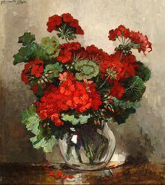 Jeannette Slager (1881-1946) — Geraniums in Vase : Frans Hals Museum, Haarlem. Netherlands (756x850)