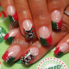 Naughty Mrs Clause nail design Christmas nail