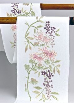 Embroidered collar for kimono