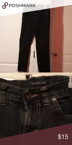 7add1524d5 Black jeans Calvin Klein skinny jeans. Look brand new. Size 4 Calvin Klein  Jeans