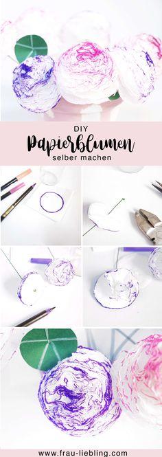 Frau Liebling, diy Blog, deko, geschenke, Papierblumen, Blumen aus Papierservietten