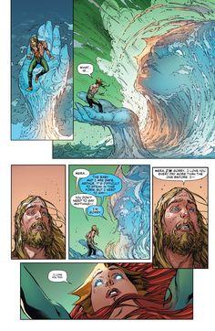 Black Manta's revenge is at hand, as Aquaman and Mera finally reunite during the battle for their lives. Mera Dc Comics, Marvel Dc Comics, Batwoman, Nightwing, Black Manta, Superhero Design, Dc Comics Characters, Geek Squad, Merfolk