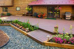 Low profile front porch entry deck