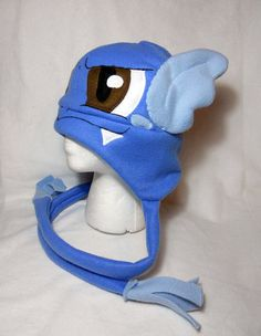 Pokemon Inspired Wartortle Fleece Hat MADE TO ORDER por Higginstuff