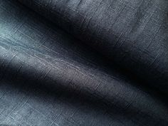 """Japanese solid indigo fabric with slub weave, true blue yarn dyed indigo from Japan. Color is on both sides, approximately 6 oz. 100% cotton 45"""" wide  $14.00 yard"""