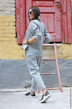 Пиджак женский летний пиджак пиджак для лета жакет из шерсти летний жакет светло серый пиджак серый пиджак стильный пиджак дизайнерский пиджак модная одежда тренд 2015 костюм женский