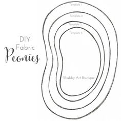 Shabby Art Boutique - DIY fabric peonies template