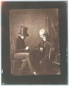 Chess players, salt print, Talbot, William Henry Fox (photographer), c. 1844