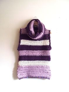 Chunky Sweater Vest Poncho Cowl Knit Vest Women's Clothing by GrahamsBazaar
