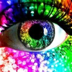 rainbow glitter eye by kolopolo on DeviantArt Rainbow Eye Makeup, Rainbow Eyes, Rainbow Art, Rainbow Colors, Rainbow Stuff, Rainbow Pride, Pretty Eyes, Cool Eyes, Beautiful Eyes