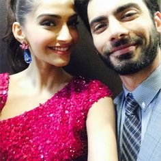 Fawad Khan and Sonam Kapoor Selfie on Sonam Kapoor's Instagram for the promotion of their movie Khoobsurat #selfieoftheday