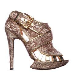 Gold snake heels