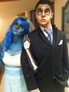 Me & my guy as Victor and Corpse Bride. Makeup by me! <3