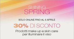 "[News] KIKO - Sconto 30% su make-up e skin care ""Shining Spring"" + omaggio"