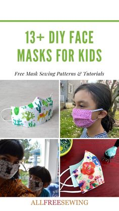Face Masks For Kids, Sewing Projects, Sewing Tips, Sewing Ideas, Sewing Crafts, Diy Accessories, Diy Face Mask, Back To School, Free Pattern