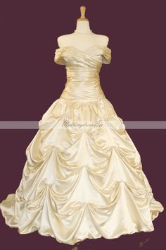 Strapless elegant ball gown with catch-up .... I have to have this...it's essentially a Belle dress