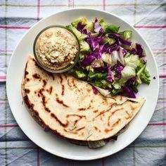 Piadina con verdure e hummus #vegan