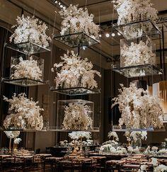 Wedding Locations, Wedding Themes, Wedding Designs, Wedding Colors, Hanging Flower Arrangements, Hanging Flowers, Wedding Ceiling Decorations, Flower Decorations, Wedding Couple Photos