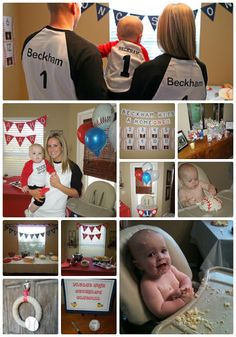 Baseball Theme Birthday Party Ideas....love the shirts! Cool ideas just need to adjust for a girl!