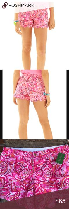 Lilly Pulitzer Shorts Lilly Pulitzer Shorts.  NWT.  Adorable shorts for this upcoming season.  Love the colors of pink, red and white.  Orange, too.  ❤💕 Lilly Pulitzer Shorts