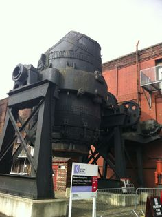 Bessemer Converter, Kelham Island Industrial Museum. Sheffield. South Yorkshire