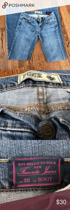 VS Pink Bootcut Jeans Great condition, like new! No holes or signs of ware. PINK Victoria's Secret Pants Boot Cut & Flare