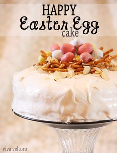 Happy Easter Egg Cake! An adorable and delicious cake for your holiday celebration!