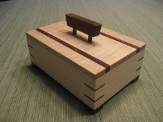 Wooden Keepsake Box Jewelry Box made from by DavidsFineWoodcraft