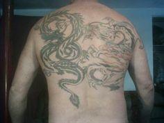 Tattoos Time Tattoos: Dragon Upper Back Tattoo Dragon Tattoo Back, Dragon Tattoos, Upper Back Tattoos, Time Tattoos, Tattoo Designs, Design Tattoos, Tattooed Guys, Tattoo Patterns, Tatoo Designs