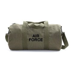 Air Force USAF Text Army Heavyweight Canvas Medic Shoulder Bag in Olive /& Black