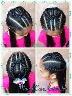 Dutch Braid Criss Cross Style🌺 Princess Hairstyles, Little Girl Hairstyles, African Braids Hairstyles, Braided Hairstyles, Natural Updo, Black Hairstyle, Beautiful Braids, Cornrows, Braid Styles