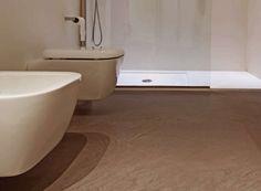 Bagno funzionale ~ Ardesia grigio e beige per i colori di questo bagno dove i