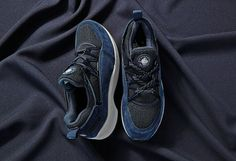 """823ee7b28bf4b and Nike have unveiled two new colorways for its collaborative Air Huarache  Light silhouettes. The """"Midnight Forest"""" pack is made u."""