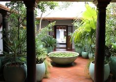 Courtyard of a South Indian home.