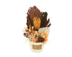 Culorile toamnei - Aranjament cu plante naturale uscate si plante naturale conservate