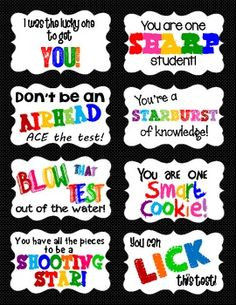 Testing Desk Tags for Students + Encouragement Note Idea f