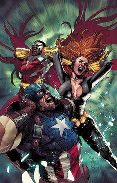 Falcon, Captain America and Black Widow
