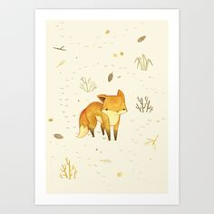 Lonely+Winter+Fox+Art+Print+by+Teagan+White+-+$17.00