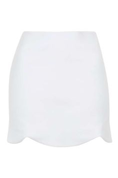 PETITE Scallop Mini Skirt