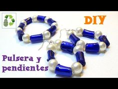 88. DIY PULSERA Y PENDIENTES (RECICLAJE DE BOTELLAS PLÁSTICAS) - YouTube
