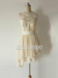 Cream Short Wedding Dress Online/ Short by chiffondresses on Etsy, $99.00