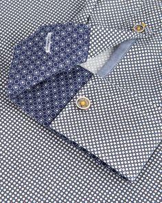 Geo print shirt - White | Shirts | Ted Baker UK