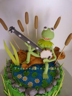 Cake Art! ~ 'Kermi' Cake  ~ all edible